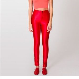 American apparel disco pant red